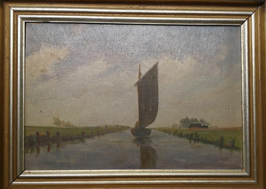 Gemälde Torfschiffer auf der Hamme