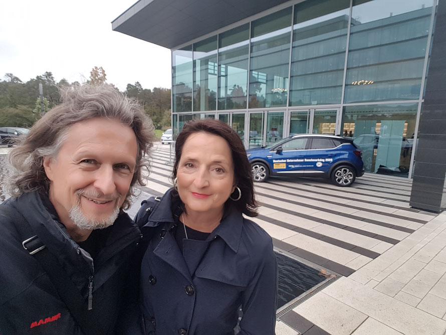 Prof. Veronika Bellone und Thomas Matla beim Deutschen Unternehmer Benchmarkday 2020 © Bellone Franchise Consulting GmbH