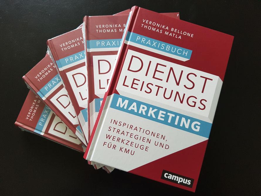 Praxisbuch Dienstleistungsmarketing, Bellone/Matla, Campus Verlag, Frankfurt, 2018 - die Autorenexemplare sind da