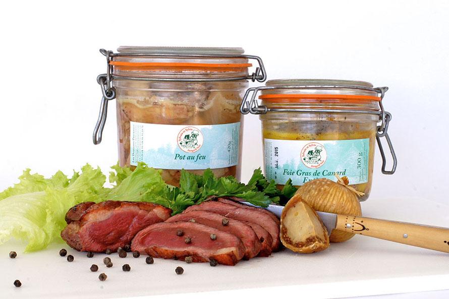 Sylvain et Sylvie en Périgord Noir, produits issus du canard de la Dordogne