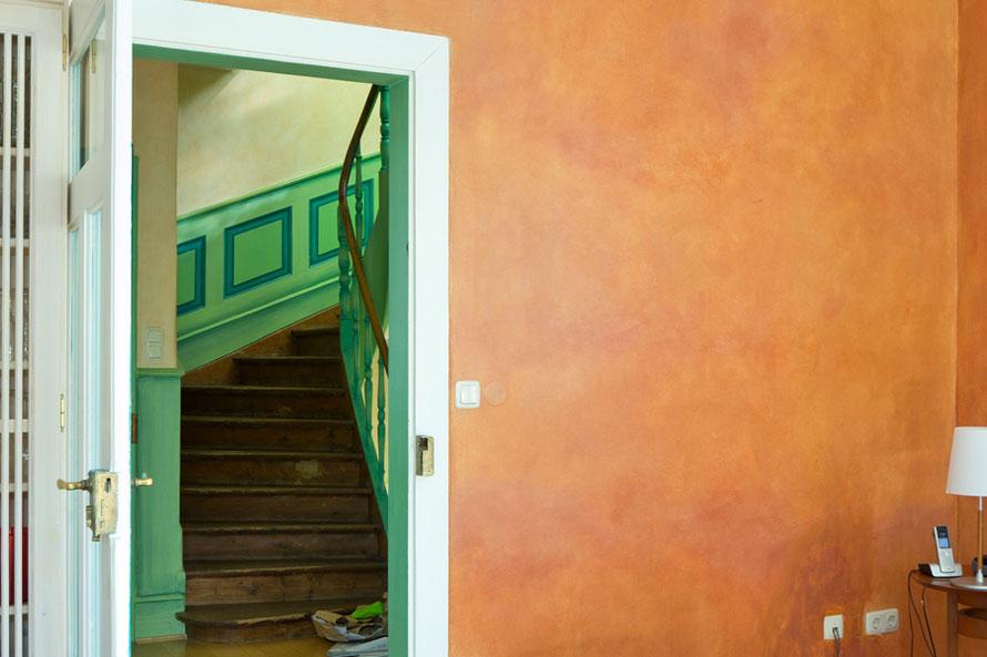 Interior Design durch Wandfarbe