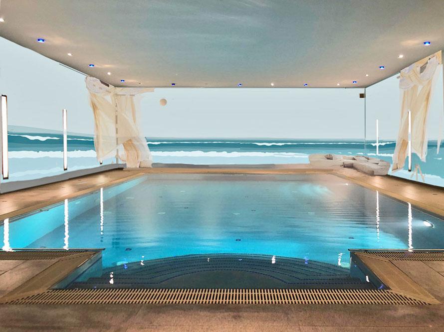Entwurf für die Schwimmbadbemalung von Alina Cesár