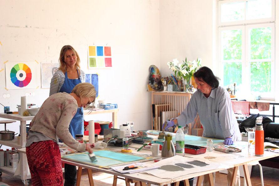 Malen lernen in Künstleratelier in Bayern