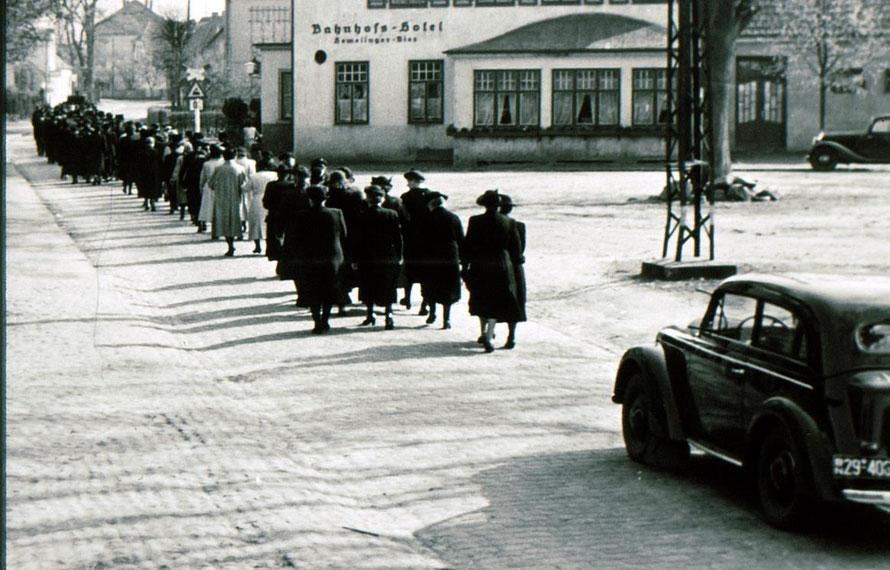 Foto 1952: Repro W. Meyer