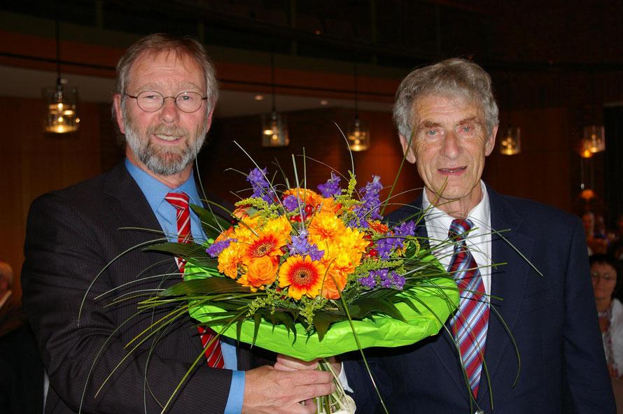 Bürgermeister Lemmermann und Ehrenbürger Otto Polak / Foto: Wilfried Meyer
