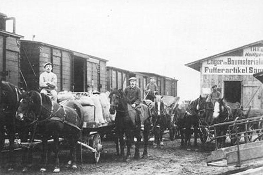 1912 Laderampe Bahnof Riede / Foto/Repro: Wilfried Meyer