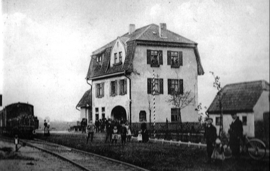 Betrieb am Bahnhof Leeste im Jahr 1916 / Foto/Repro: Wilfried Meyer