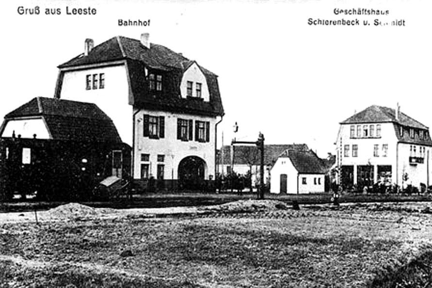 1912 Bahnhof Leeste / Foto/Repro: Wilfried Meyer