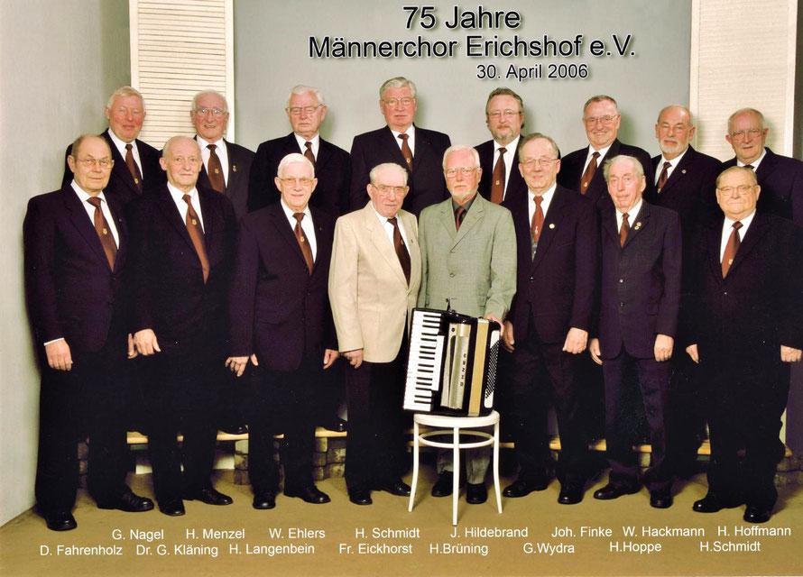 Letzte Studioaufnahme des Männerchors Erichshof in Studio Eickhorst