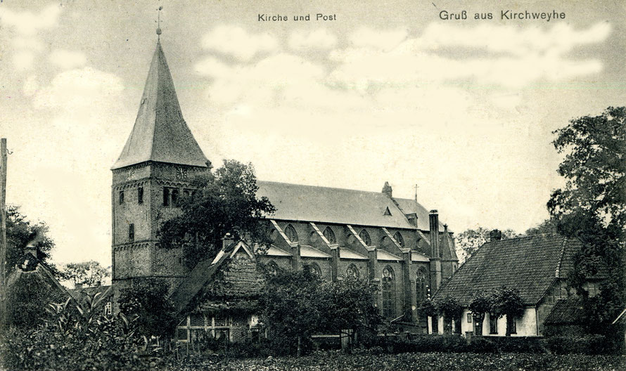 Felicianus-Kirche in Kirchwyhe um 1910 / alte Postkarte