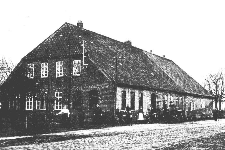 Gaststätte Dammschmidt an der B6 (Aufnahme 1913: Repro Wilfried Meyer)