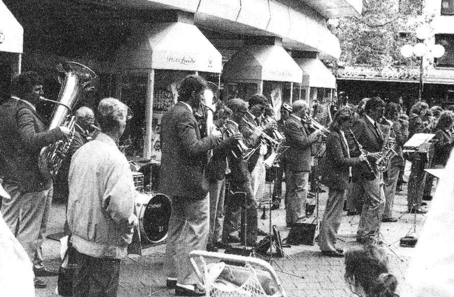 Konzert in der Fußgängerzone Hannover