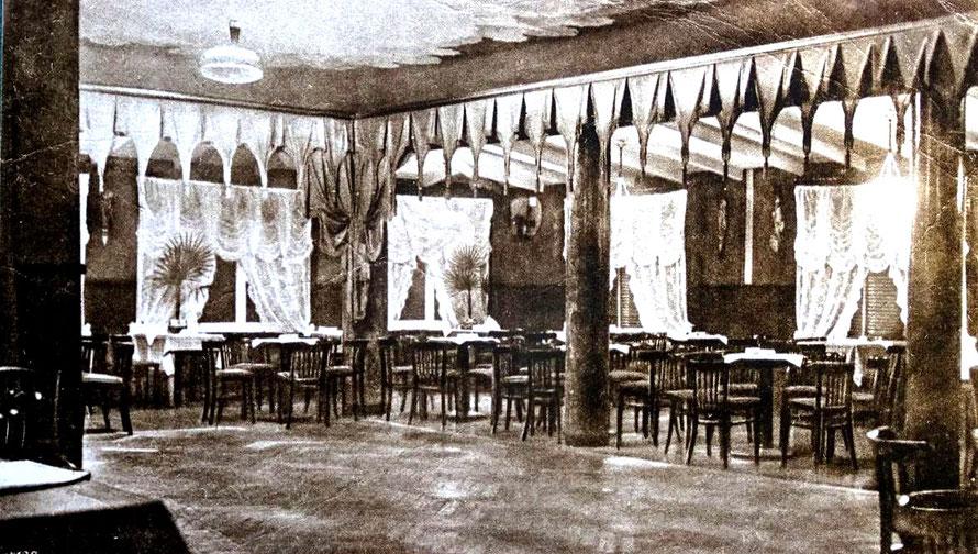 Der Tanzsaal des Lokals um 1929