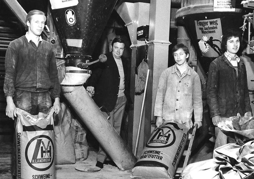 von links: unbekannt, Heinrich Landwehr, unbekannt, Lutz Steinke