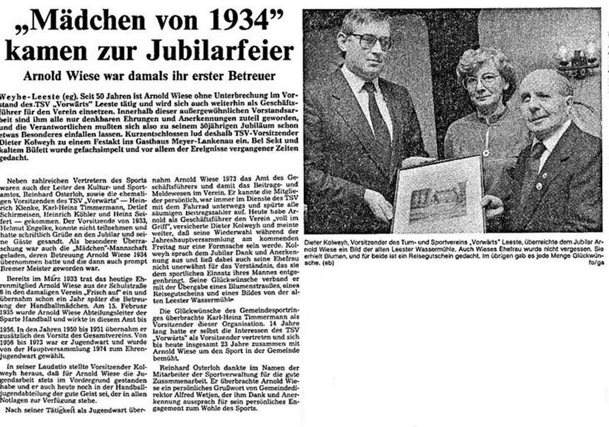 Weser-Kurier vom 18.2.1985