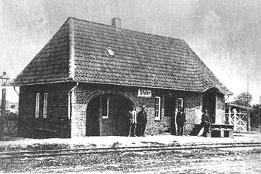 1925 Bahnhof Stuhr / Foto/Repro: Wilfried Meyer