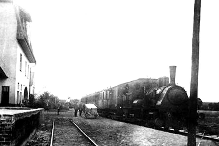 1920 Personenzug in Thedinghausen / Foto/Repro: Wilfried Meyer