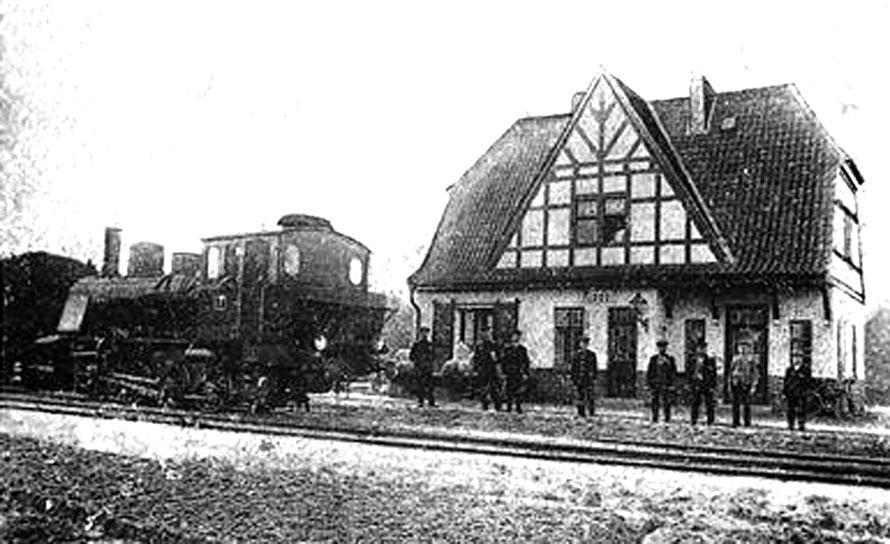 Bahnhof Riede / Foto/Repro: Wilfried Meyer