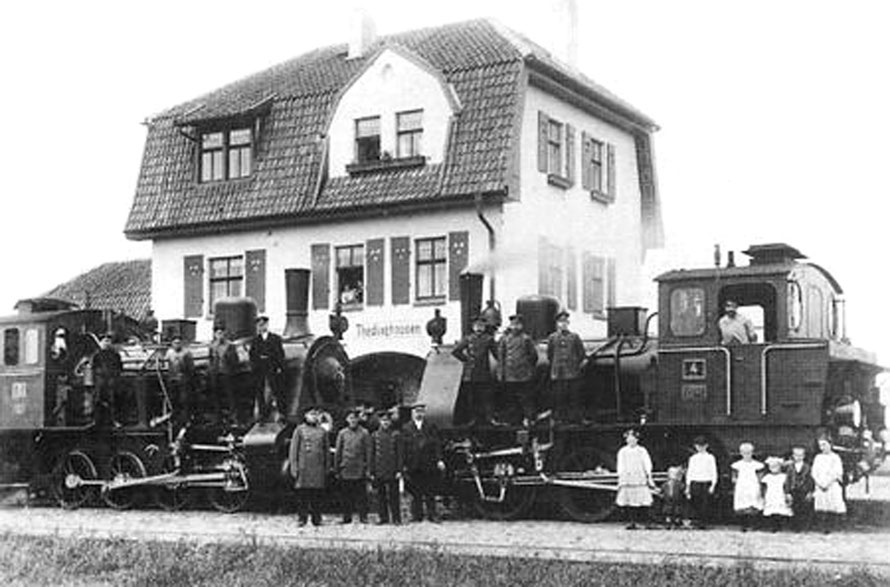 1912 Endbahnhof Thedinghausen / Foto/Repro: Wilfried Meyer