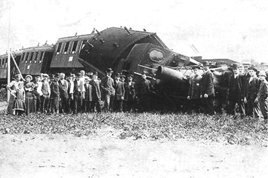 9.6.1912 Bahnunfall in Erichshof / Foto/Repro: Wilfried Meyer