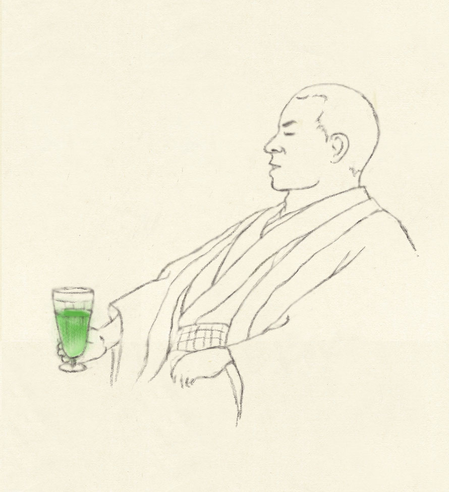 Junichiro Tanizaki loved Soda water of Shiseido Parlour.