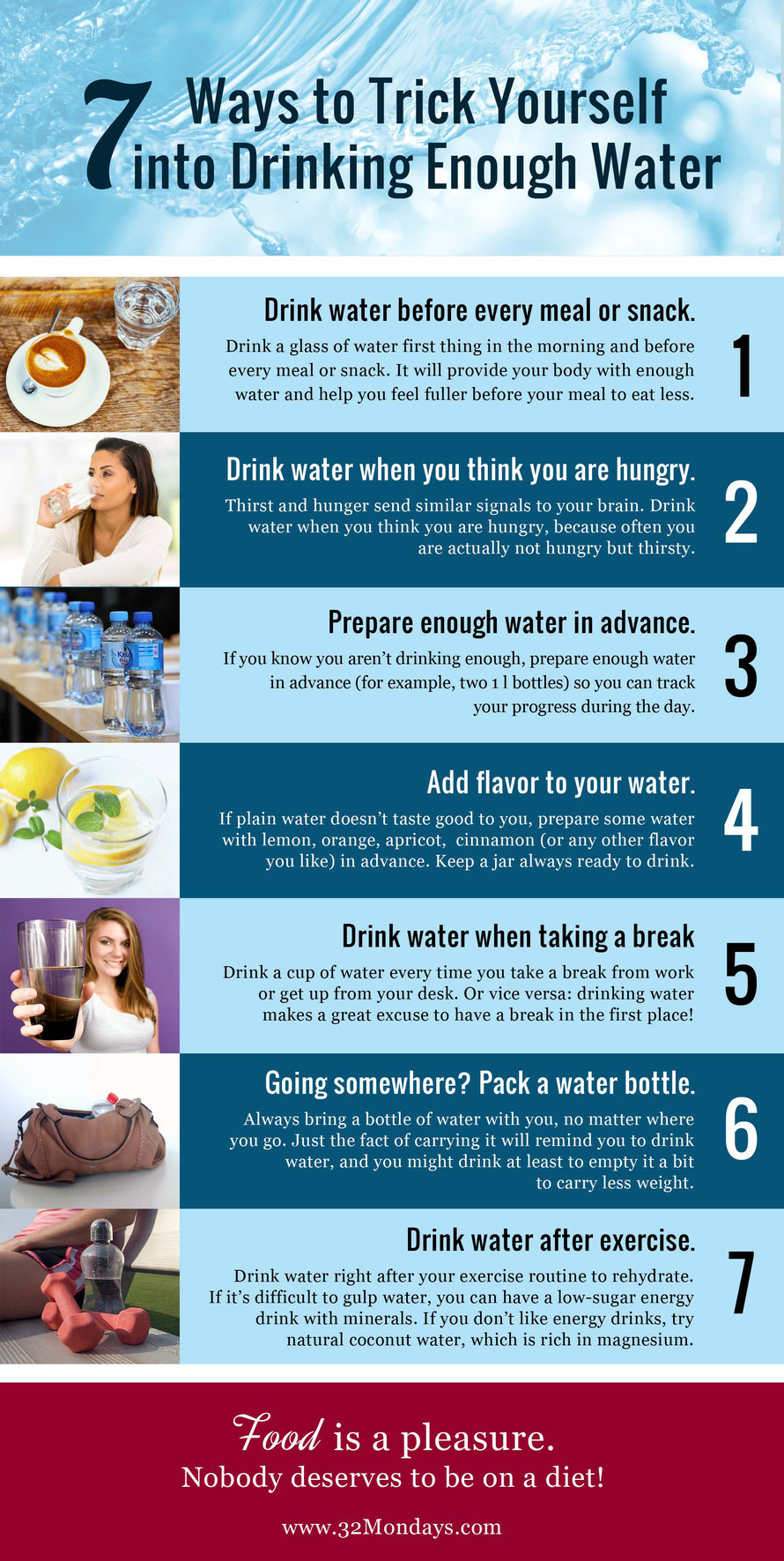 7 Ways to Trick Yourself into Drinking Enough Water