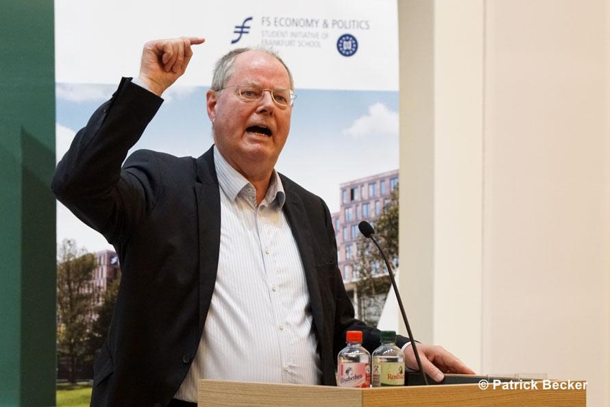 15.11.2017 Peer Steinbrück zu Gast an der Frankfurt School
