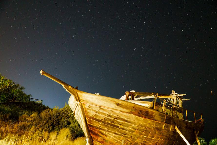 Boote in Griechenland, Ikaria, Nightshoot