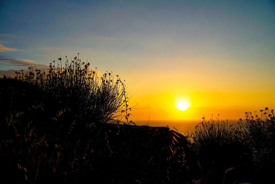 Sonnenuntergang Ikaria, idyllisch