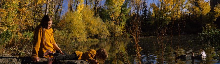 See in Jermuk, Herbstidylle, Herbst, Armenien, Dschermuk