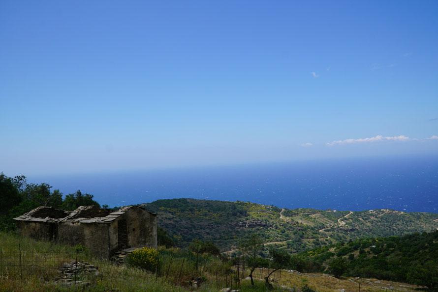 Verlassenes Haus auf Ikaria, Griechenland