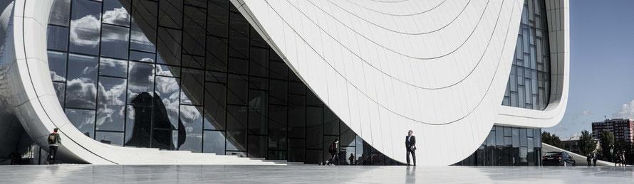 Heydar Aliev Center Baku - Geschlossener Haupteingang