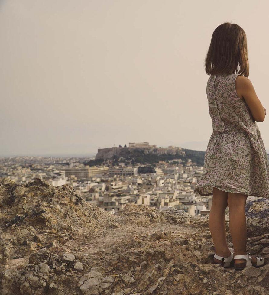 Auf dem berühmten anarchisten Hügel in Exarchia, Athen, Griechenland