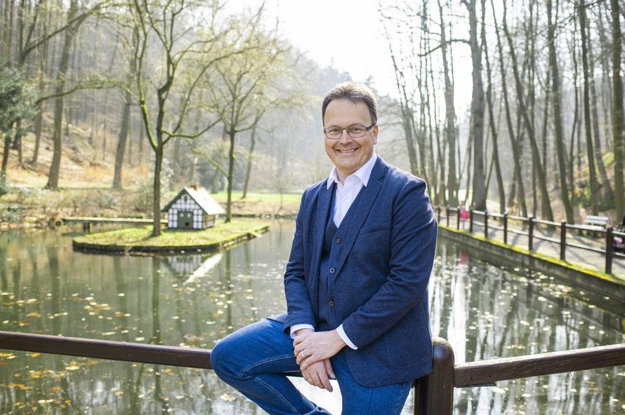 Jens Strebe als nominierter Bürgermeisterkandidat vor der CDU-Mitgliederversammlung am 07.04.2021