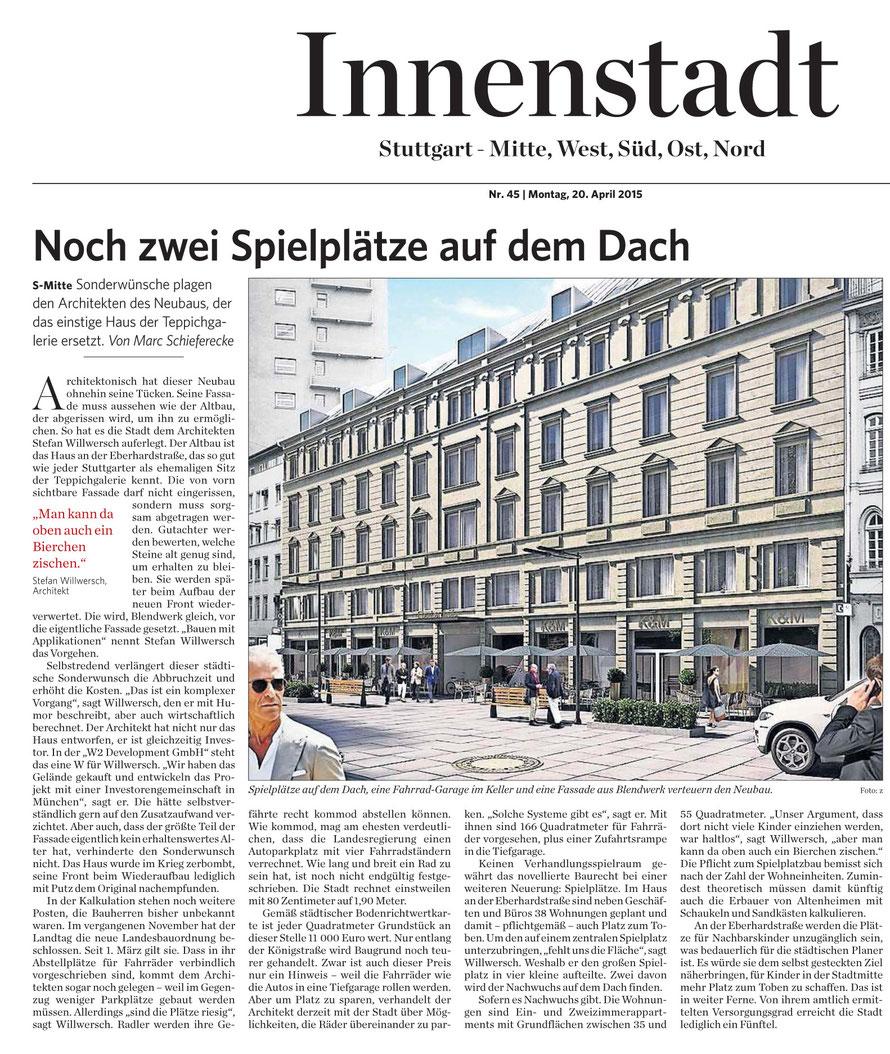 Stuttgarter Zeitung / 20.04.2015