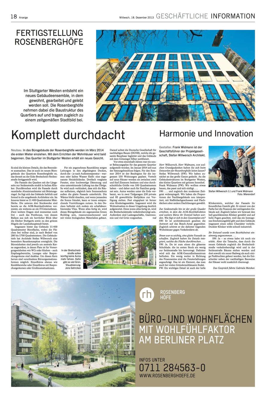 Stuttgarter Zeitung / 18.12.2013