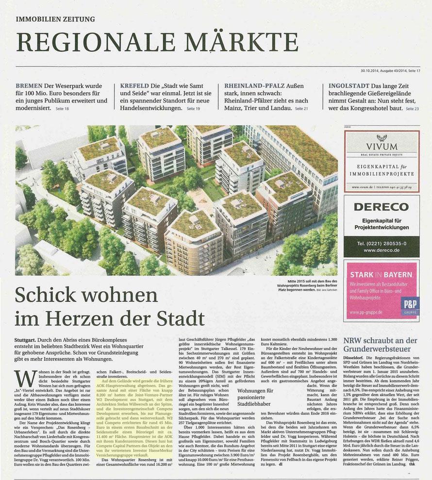 Immobilien Zeitung / 31.10.2014