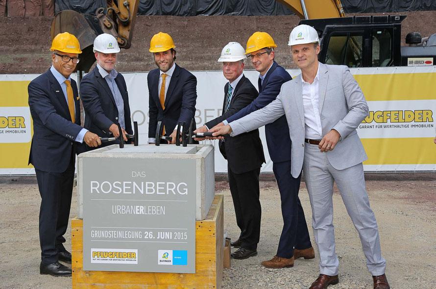 Grundsteinlegung DAS ROSENBERG / 26.06.2015