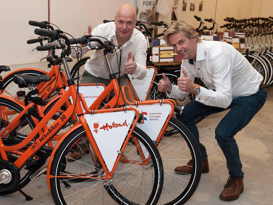 Maurice Janssen (links) en Mike Janssen