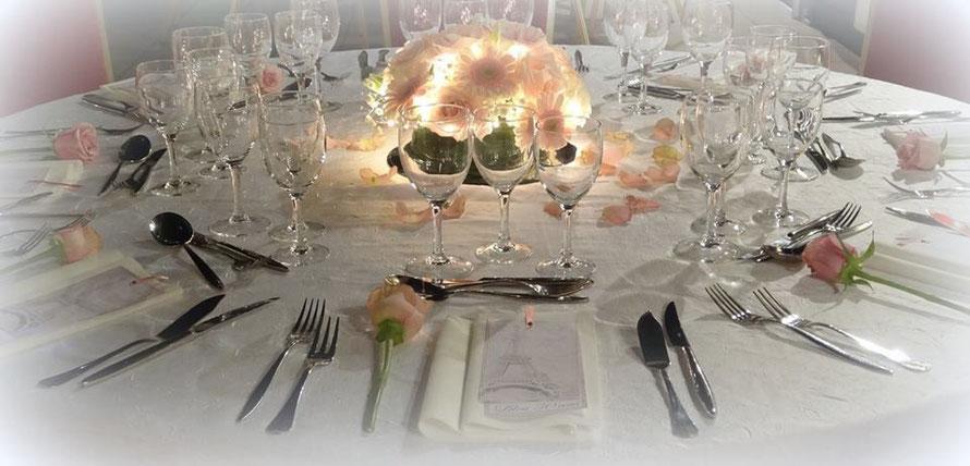 Restaurant La Renaissance salle de réception, banquet, mariage, anniversaire, fêtes de famille, repas de famille, repas d'anniversaire, proche Soissons et Laon  (02) mariage et fêtes clé en main