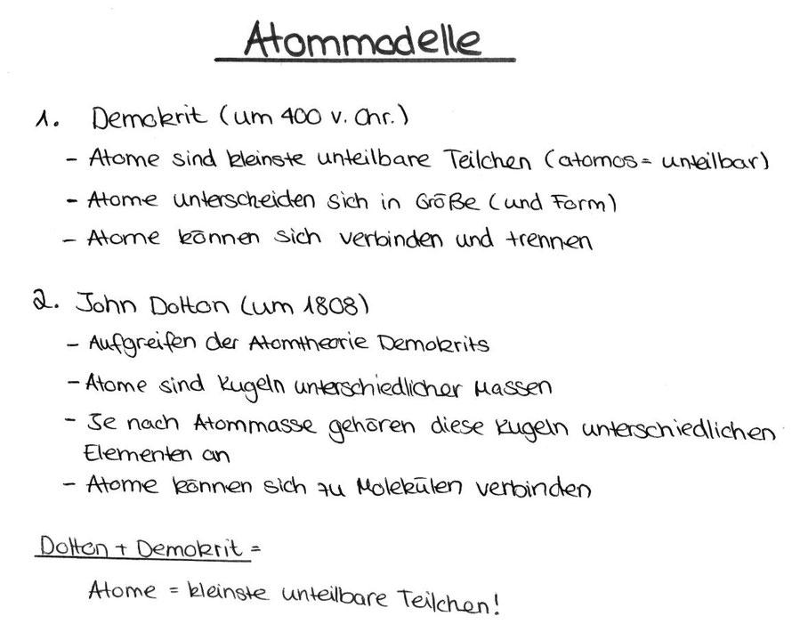 Atommodelle - Von Demokrit bis Dalton - Unterrichtsstunde vom 29.08 ...