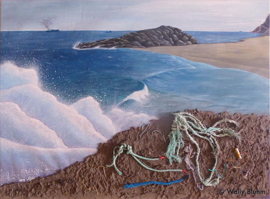 Wally Wunderlich, Übersehen, Leben im Anthropozän, Kunst mit Müll, Art with Trash