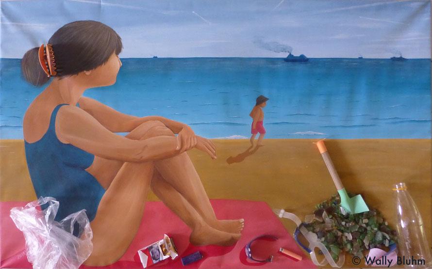 Wally Wunderlich, Ignoriert, Leben im Anthropozän, Kunst mit Müll