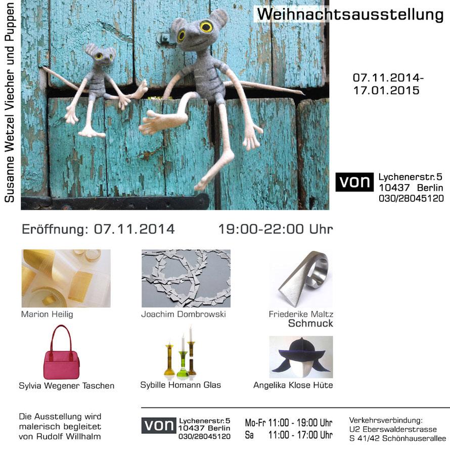 Viecheria, Susanne Wetzel, Filzpuppen, Sybille Homann, Glas Upcycling