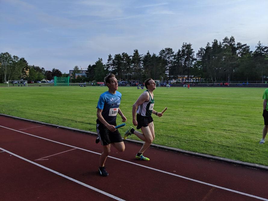 ... Moritz Weißmann kurz vor der Ziellinie ...