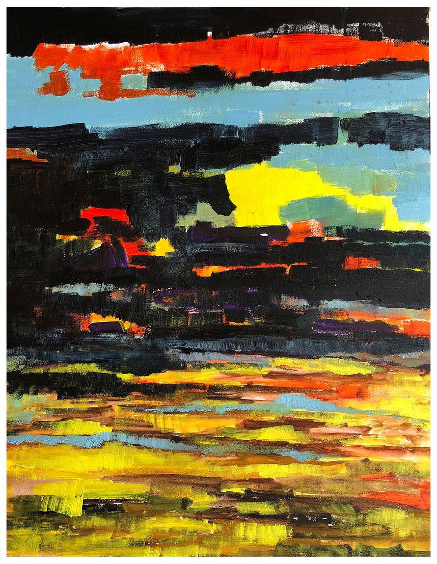 Inspiration Syrakus, Harz-Ölfarbe/Artist Water Color , 50x64cm, Copyright by Martin Uebele