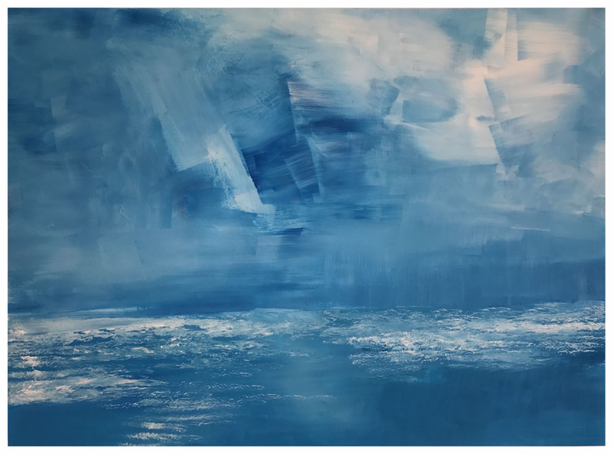 Das Meer, Mai 2017, 70 x 87 cm, Rembrandt Acryl, Copyright by Martin Uebele