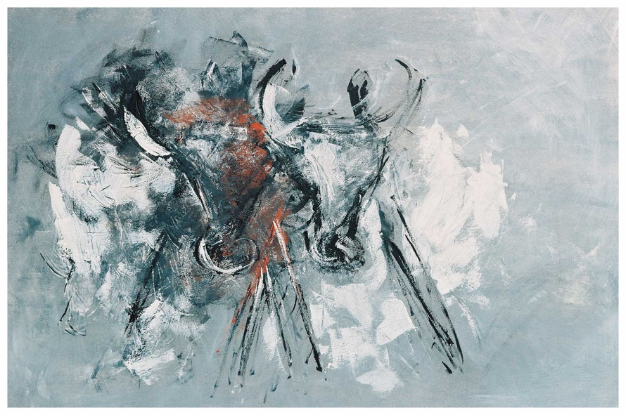 Die Sturmkühe, Zur Zeit Leihgabe, 100 x 150 cm, Copyright by Martin Uebele
