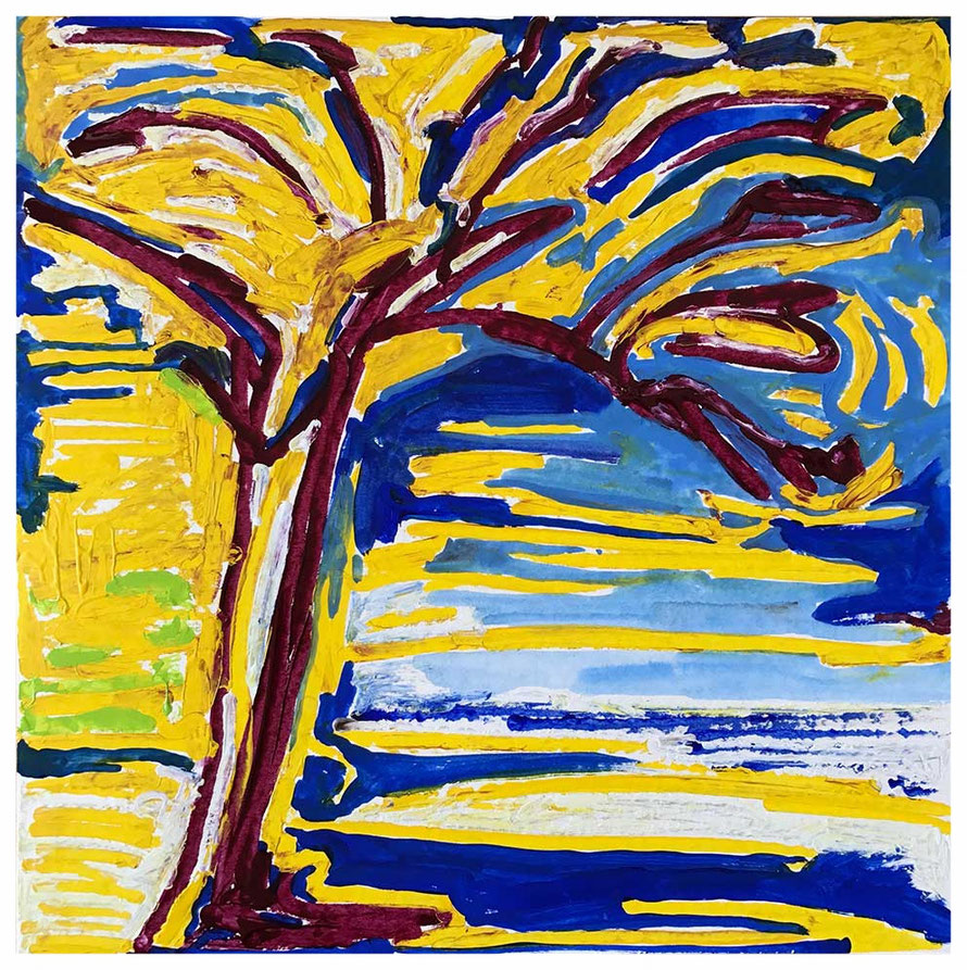 Baum von Gigaro, 40x40 cm, Mai 2017, Watercolor, Copyright by Martin Uebele