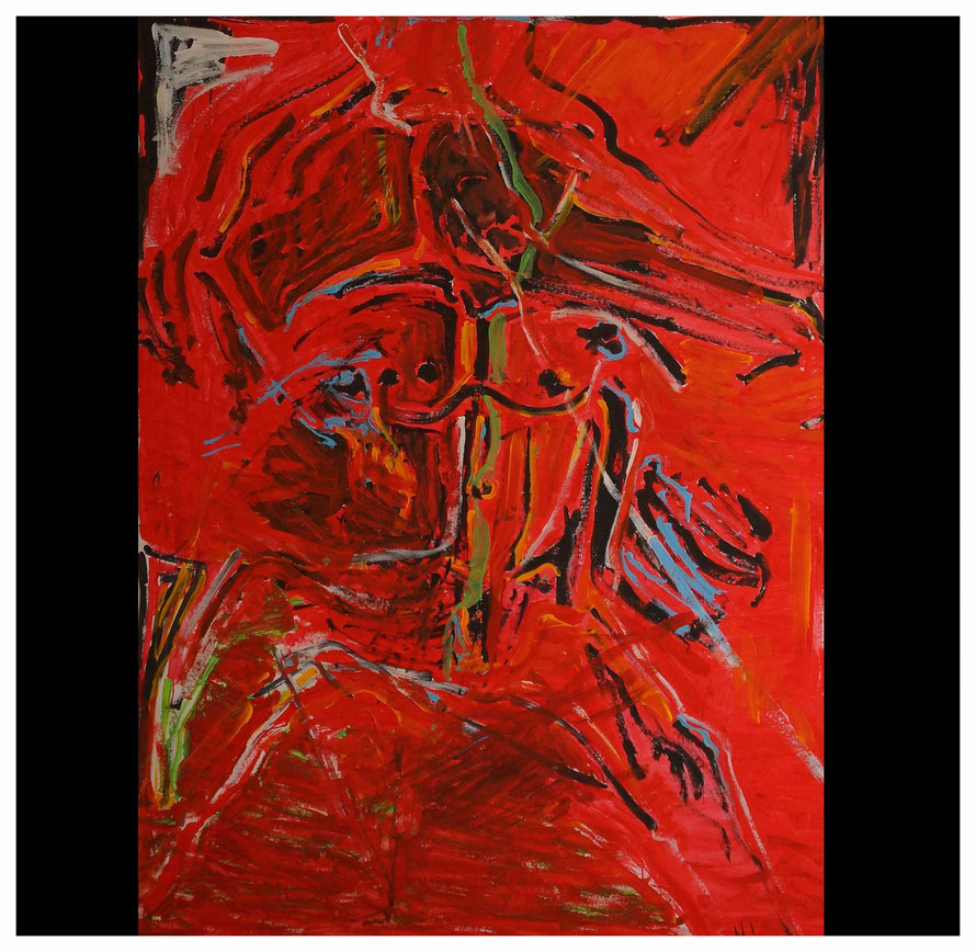Dancing Men, Acryl, Copyright by Martin Uebele